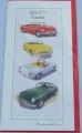 MGBGT and MG roadster bookmark card; classic car
