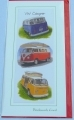 VW surfer camper van greetings bookmark card retro gift