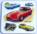 E Type Jaguar drinks coaster gift for classic Jag car fans