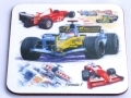 Formula One drinks coaster, Ferrari, Honda, Toyota, Williams car