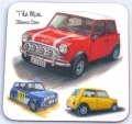 Classic Mini drinks coaster gift, Cooper, Issigonis car fans