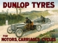 Dunlop Tyres Period Advertisement Enamel Metal Sign