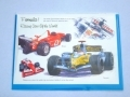 Formula 1 greetings car, Williams, Renault, Ferrari, Honda motor