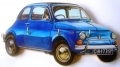 Fiat 500 Cinquecento key holder, hand made in England
