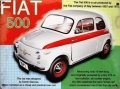 Fiat 500 metal wall sign gift for Cinquecento fans