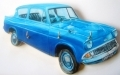 Ford Anglia key holder, hand made in England