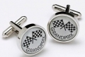 Formula One Grand Prix cufflinks motor racing boxed car gift