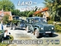 Land Rover Defender 110 Enamel Metal Sign
