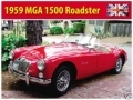 MGA 1500 Enamel Metal Sign Car Gift