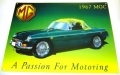 MG service metal wall sign gift featuring MGTCs