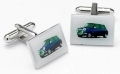Classic Mini cufflinks (blue) car gift, for Cooper, Cooper S and
