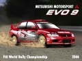 Mitsubishi Evo 9 Enamel Metal Sign
