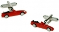 Convertible red sports car cufflink boxed car gift
