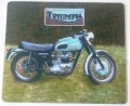 Triumph Motorcycle Mouse Mat Bike Gift