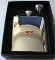 Jaguar E Type Stainless Steel Hip Flask