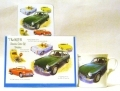 MGB, MG, MGA gift set, mug, card, coaster, die cast car